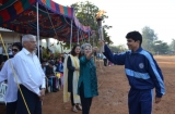 Chief guest handining over the Torch