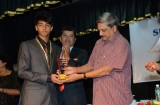 Master Soham Gaunekar being felicitated by our chief guest.