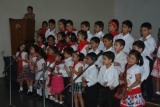 Students of 1E sang 'Let Your Love Flow'