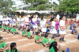 Cheerleaders performing their Dance Act to encourage the participants
