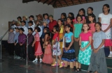 Song  'I love to laugh' performed by Class 4E