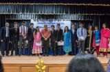 The toppers with the dignitaries