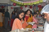 Teachers helping themselves to a sumptuous brunch
