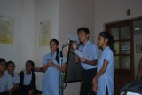 Higher Secondary students conducting the quiz