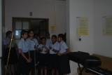 Song in marathi describing Maam Sharmila by the students of Secondary Section