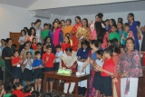 Principal along with all teachers of Junior Section joined in the celebration by cutting the cake
