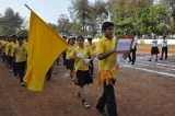 Yellow, Yellow the bright fellow….. Team of Yellow house led by Simran and Siddharth