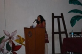 Mrs. Benita Carvalho introduces the Chief Guest