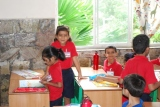 Kids after completing their masterpieces