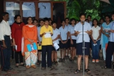 STAFF AND STUDENTS CELEBRATING THE INDEPENDENCE DAY
