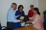LAPTOP GIVEN TO MRS. ANAGHA M.