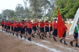 March past by the Class 4 Red House